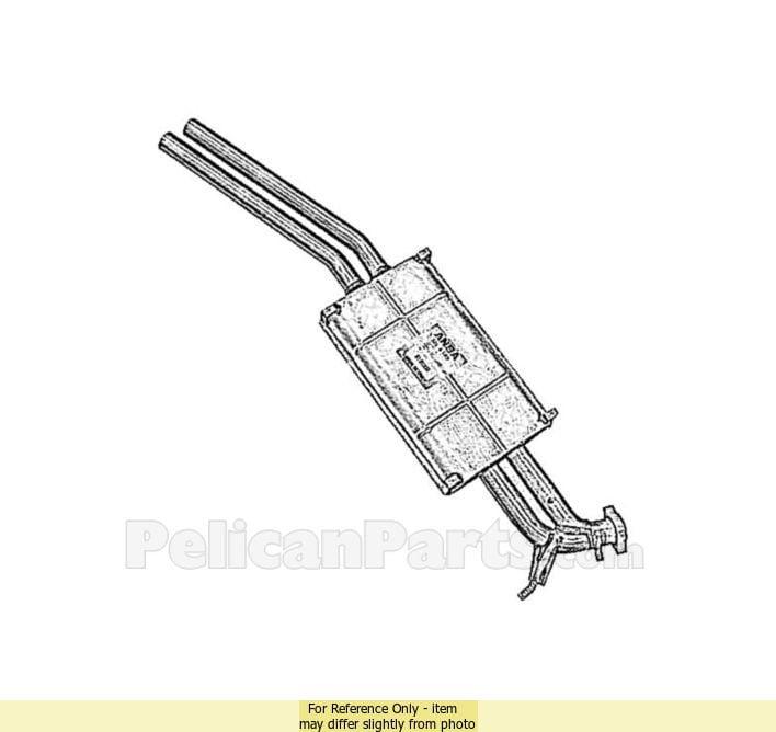 Muffler 1074902215 genuine mercedes benz 107 490 22 15 for Mercedes benz genuine parts online