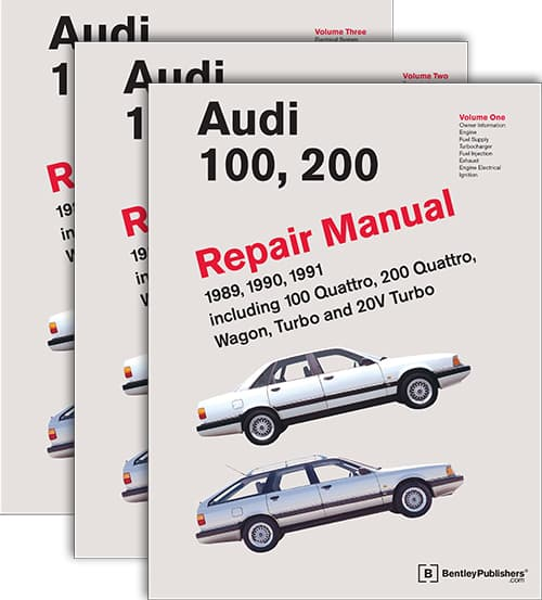 bentley repair manual audi 100 200 c3 1989 1991 softcover 3 rh pelicanparts com bentley repair manual audi q7 Auto Repair Service Manuals