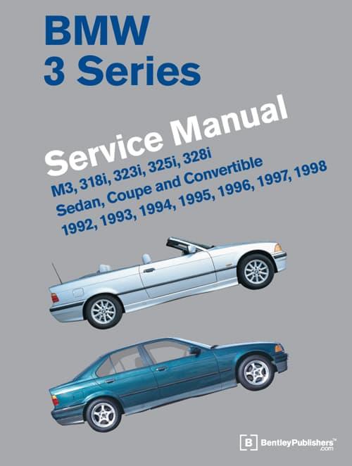 bentley service manual bmw e36 3 series 1992 1998 hardcover rh pelicanparts com bmw m3 e36 owner's manual e36 m3 owners manual