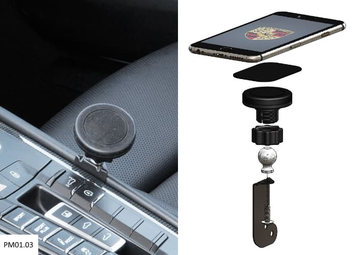 Magnetic Cell Phone Mount >> Exactfit Magnetic Phone Mount Center Console Mount Macan